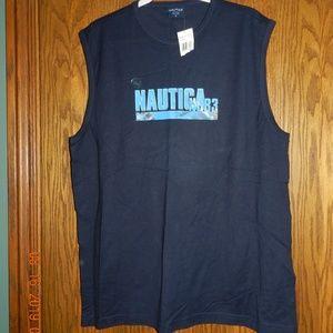 NWT Men's Nautica Navy Sleeveless T Shirt